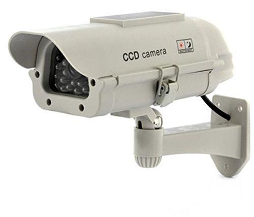 SeeSii A-42A Indoor/Outdoor Solarstrom Dummy Kamera Dummy-Security Überwachung Überwachungskamera mit blinkend LED-Licht mit einem Geschenk (A-42A)