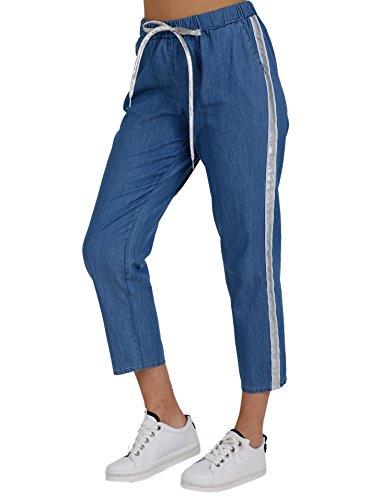 Clair Pantalon Coquines Pantacourts Pantalons Miss Bleu Et Femme R0SqxB5