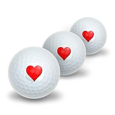 Heart Novelty Golf Balls 3 Pack