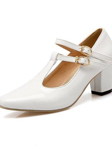 GGX/Damen Schuhe PU Chunky Heel Heels/Schuhe Heels Office & Karriere/Kleid/Casual Schwarz/Rot/Weiß/Beige 6#-us10.5 / eu42 / uk8.5 / cn43