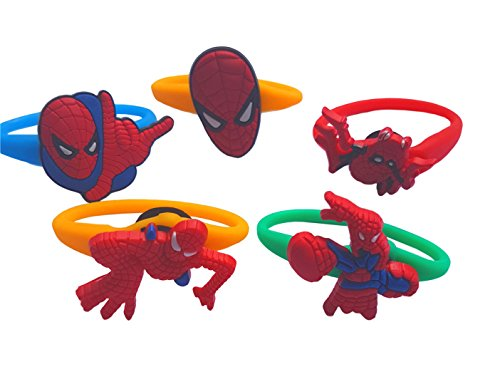 Shocker Spider Man Costume (AVIRGO 5 pcs Colorful Releasable Ponytail Holder Elastic Rubber Stretchable No-slip Hair Tie Set Set # 121 - 7)