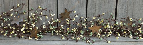 CWI Gifts Pip Berry and Star Garland, 40-Inch, Coffee Bean by CWI Gifts