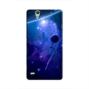 Cover It Up - Stars and Planets Blue Xperia C4 Hard Case