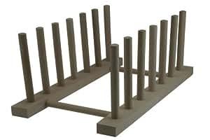 Plato tamaño pequeño con función de atril de madera