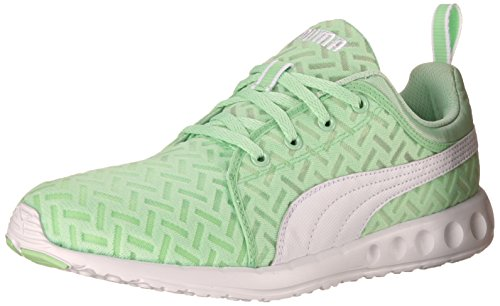PUMA Women's Carson Runner Pwrcool Sneaker, Patina Green/White, 7.5 B US