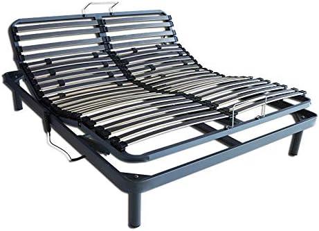 Ventadecolchones - Cama Articulada Reforzada Adaptator con Motor eléctrico y Mando inalámbrico Medida 135 x 180 cm