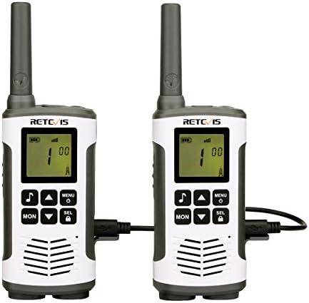 Retevis Rt45 Walkie Talkie Pmr446 Lizenzfrei 16 Kanäle Vox 10 Rufton Led Taschenlampe Funkgerät Set Wiederaufladbar Usb Ladekabel 1 Paar Silber Elektronik