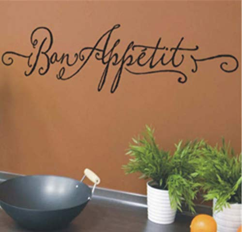 Uertyz Wall Stickers Art Decor Decals Bon Appetit for Kitchen Diningroom for Nursery Kid Room -