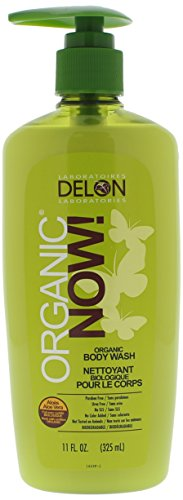 DELON LABORATORIES Organic Now Body Wash, Clear, 11 Ounce