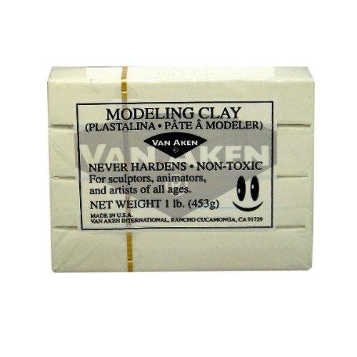 van-aken-plastalina-modeling-clay-white-1-lb-bar