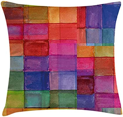 Amazon.com: Ambesonne Abstract Throw Pillow Cushion Cover ...