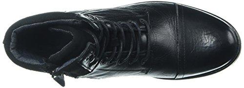 Aldo Mens Senehauz Fotled Toffeln, Svart Läder, 9,5 D Oss