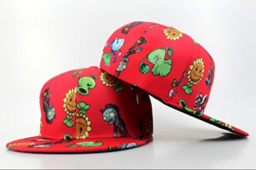 06ef4124b39 Image Unavailable. Image not available for. Colour  Plants Vs Zombies  Zombie Big Face Popular Linesman Kids Snapback Cap ...