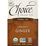 Choice Organic Teas Ginger Herb Tea, 16 Tea Bags (Pack of 6)