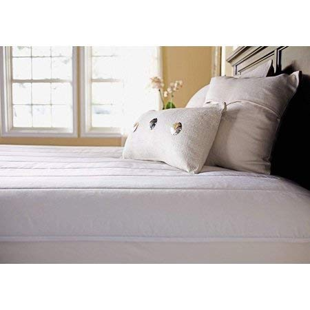 Sunbeam Quilted Polyester Heated Mattress Pad, Twin