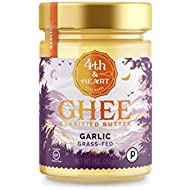 California Garlic Grass-Fed Ghee Butter by 4th & Heart, 9 Ounce, Pasture Raised, Non-GMO, Lactose Free, Certified Paleo, Keto-Friendly