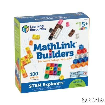 Stem Explorers Mathlink Builders - 100 Pieces - Educational and Learning Activities for Kids: Toys & Games