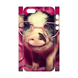 3D Bumper Plastic Customized Case Of Cute Pig for iPhone 5,5S