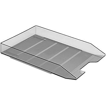 acrimet stackable letter tray smoke color 1 unit