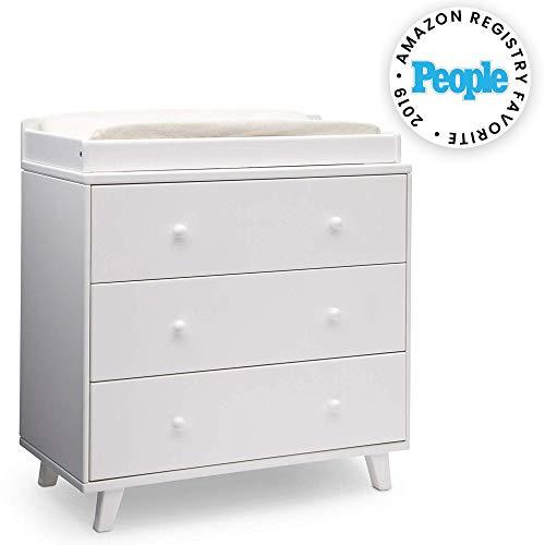 Delta Children Ava 3 Drawer Dresser with Changing Top, White from Delta Children