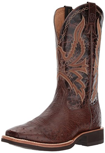 Ariat Men's Quantum Brander Crepe Work Boot, Antique Tobacco Sq Ostrich, 10 E -