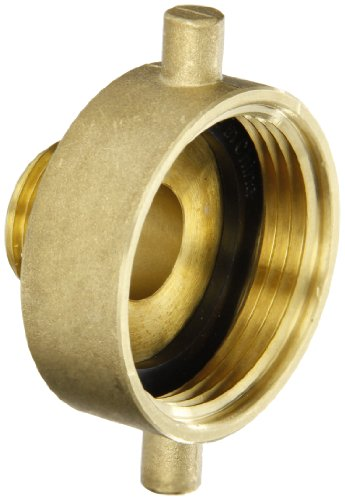 "Dixon Valve & Coupling HA1576 Brass Fire Equipment, Hydrant Adapter with Pin Lug, 1-1/2"" NST (NH) Female x 3/4"" GHT Male"