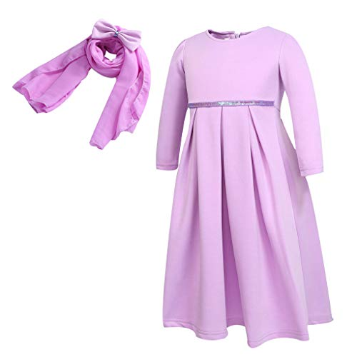 Toddler Baby Kid Girl Women Long Sleeve Loose Plain Maxi Pockets Dresses Casual Long Dresses]()