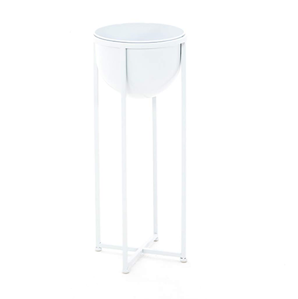NDD Plant Stand Black Floor-Standing Nordic Style Balcony Living Room Indoor Flower Stand - Metal Bracket (Color : White, Size : 2868cm)