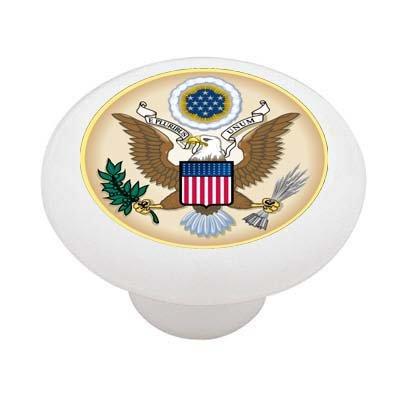 United States Government Seal Ceramic Drawer Knob