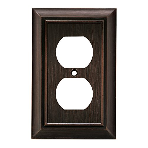 (Brainerd 64240 Architectural Single Duplex Wall Plate, Venetian Bronze)