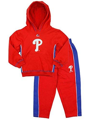 Philadelphia Phillies Mlb Baseball Stadium - Philadelphia Phillies MLB Little Boys Stadium Wear Fleece Hoodie and Pants Set, Red