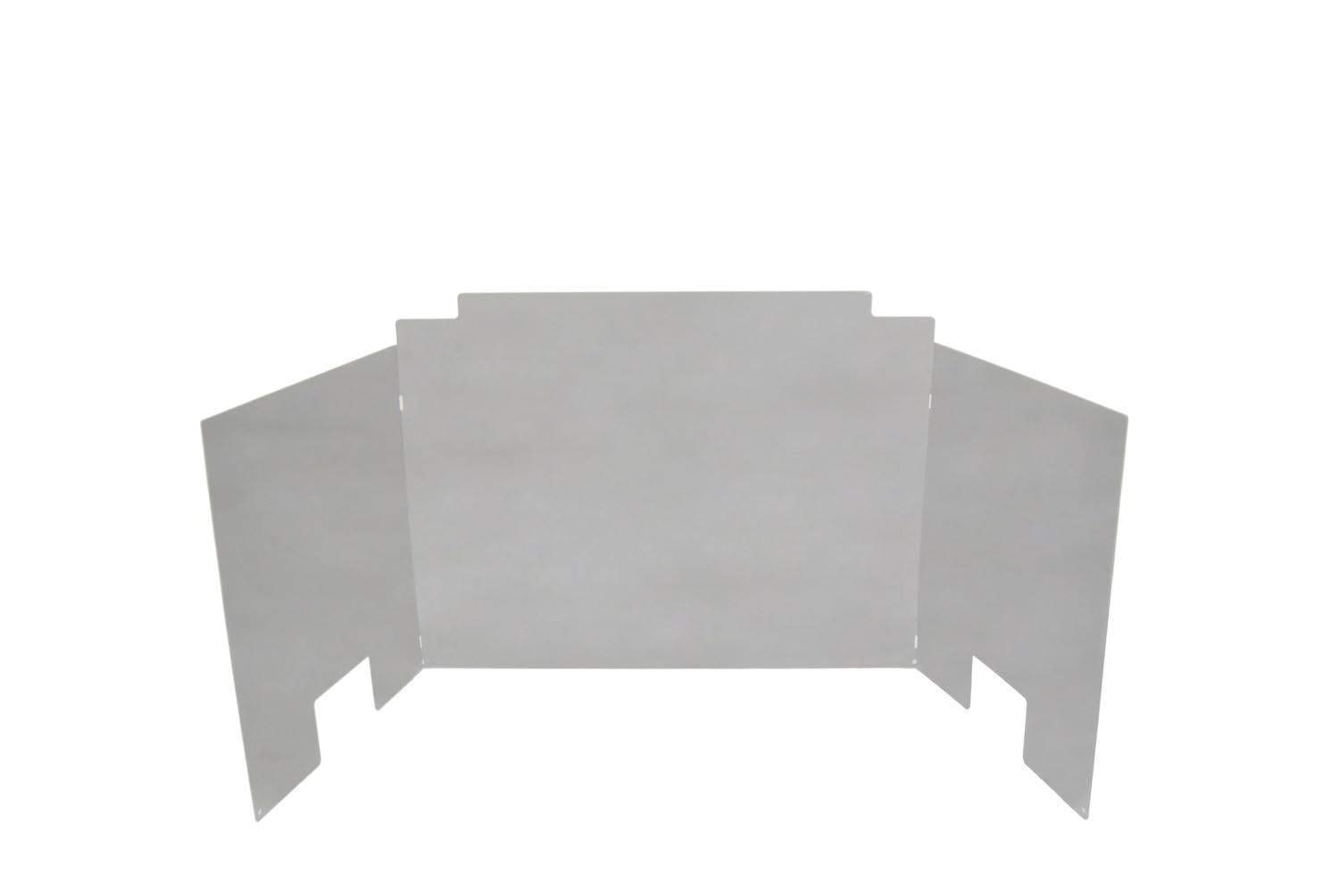 RH Peterson Co. Contemporary Three Panel Polished Stainless Steel Fyreback - 18 Inch by RealFyre