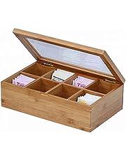 Bamboo Tea Box,Sugar Packet Holder, Coffee Packet Holder