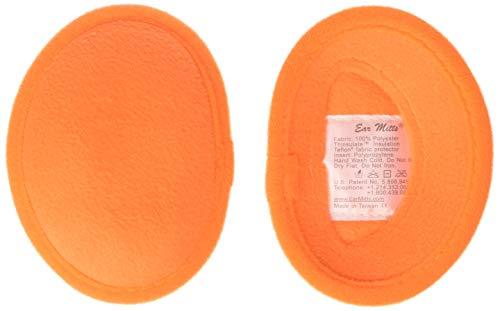 Ear Mitts Bandless Ear Muffs For Men, Safety Orange Fleece Ear Warmers, Regular