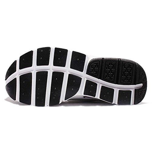 Nike - Zapatillas para deportes de exterior para mujer blanco blanco / negro 36.5 White/Black-Metro Grey