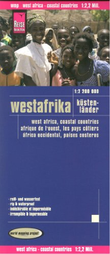 Africa West: Coastal Countries 1:2,200,000 Travel Map, GPS-compatible