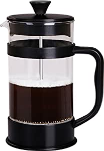 French Coffee Press (Black) - 34 oz Espresso and Tea Maker with Triple Filters, Stainless Steel Plunger and Heat Resistant Glass - by Utopia Kitchen