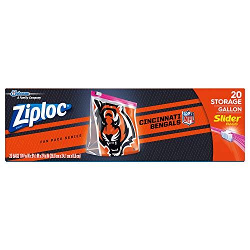 Ziploc Brand NFL Cincinnati Bengals Slider Gallon, 20 ct