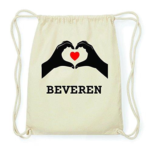 JOllify BEVEREN Hipster Turnbeutel Tasche Rucksack aus Baumwolle - Farbe: natur Design: Hände Herz BLvEj3