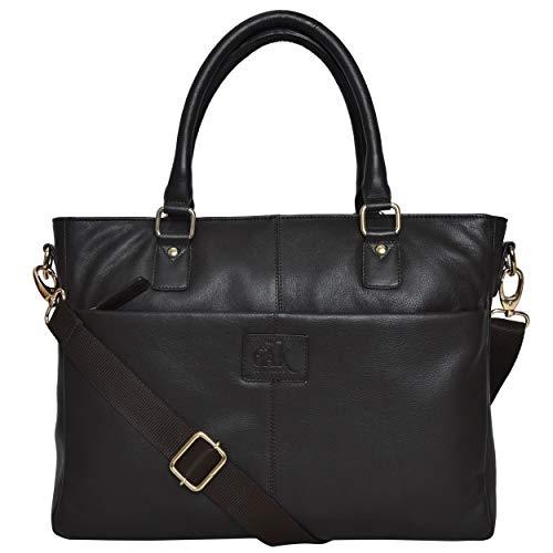 Padded Gloves Bag Leather (Geniuine Leather Laptop Messenger Bag - Premium Office Briefcase 14