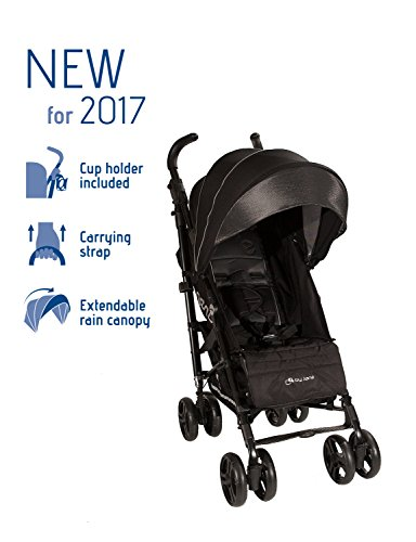 (Jane Lightweight and Compact 2017 Nanuq Stroller with Carry Strap and Long Canopy (Black))