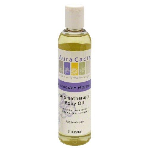 Aura Cacia, Oil Bath Massage Lavender Fields, 8 Fl Oz