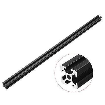 Faway 2020T-Slot Extrusion Cadre Profil en aluminium, 600mm de long Noir anodisé 600mm de long Noir anodisé