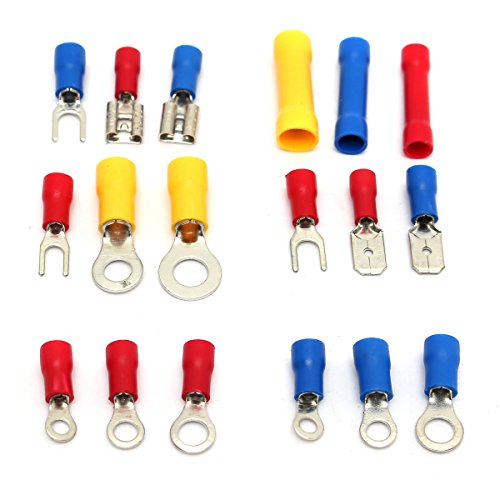 1200Pcs Insulated Electrical Wire Connector Crimp Terminals Spade Assorted Set by US Tech (Image #3)