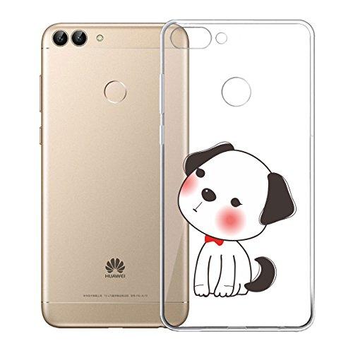 Funda para Huawei P Smart / Enjoy 7S , IJIA Transparente Adorable Bebé De Dibujos Animados TPU Silicona Suave Cover Tapa Caso Parachoques Carcasa Cubierta para Huawei P Smart / Enjoy 7S (5.65) (WM122 WM126