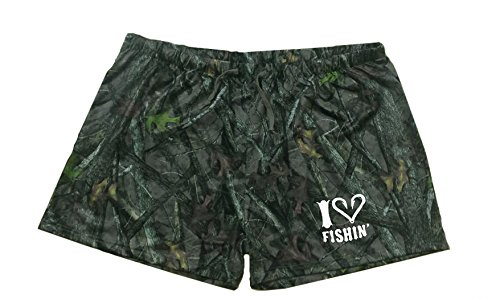 Women's and Teens Soft Camouflage Shorts For Sleeping, Pajamas, Lounging and More (Medium)