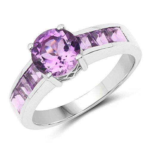 - 2.03 ct. Genuine Amethyst Sterling Silver Ring