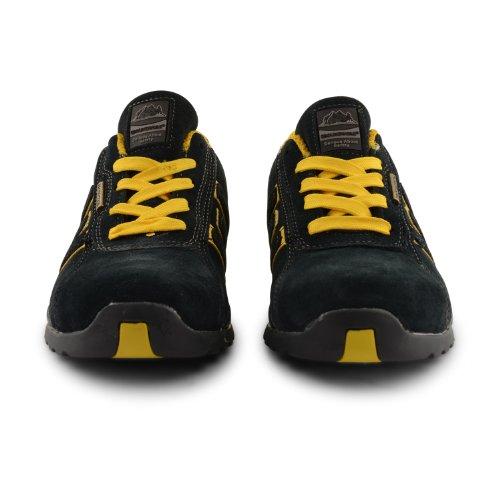 Groundwork GR86 Zapatos de Seguridad de Cuero, Unisex azul marino/amarillo (Navy/Yellow)
