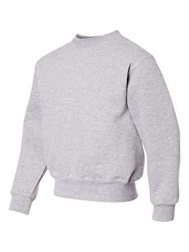 Jerzees 562B Youth Nublend Crew Neck Sweatshirt - Ash, Extra Large