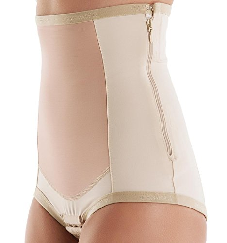 (Bellefit Postpartum Girdle with Zipper, Medical-Grade, Compression & Support, Beige, Large)